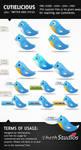 Cutielicious- 500+Twitter Bird