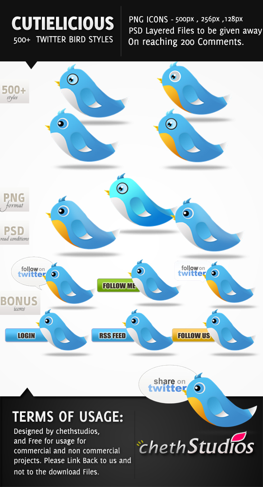 f5f6859cb3e7c23efe15b757f81d93a1 45+ Delicious Free Twitter Icons and Resources