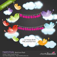 Twestival Twitter Bird Iconset by cheth