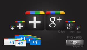 Google Plus Icon Pack PNG+ PSD