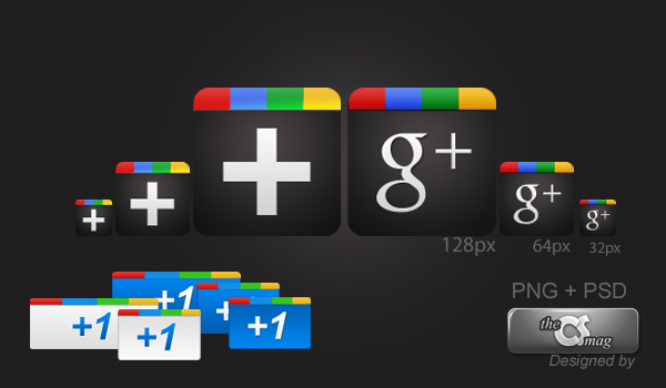 Google Plus Icon Pack PNG+ PSD by cheth