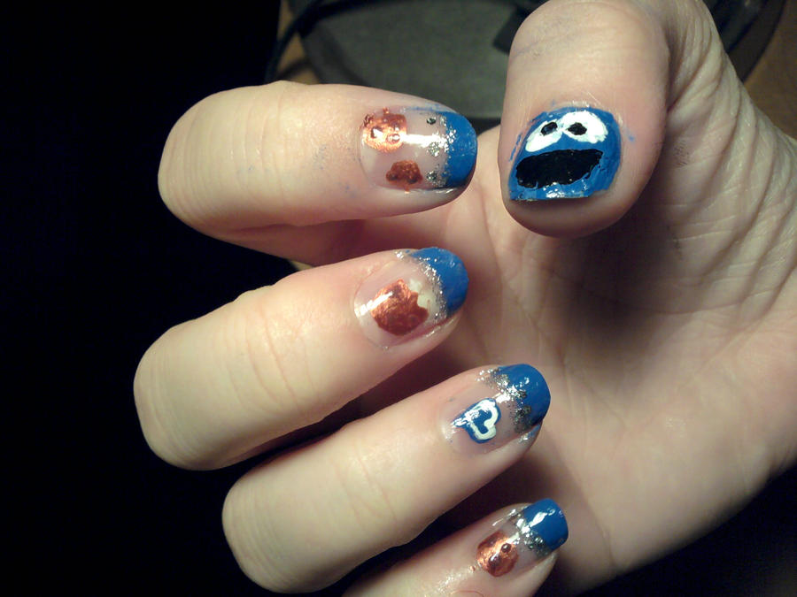 Nail Art Cookie Monster Traffic Club