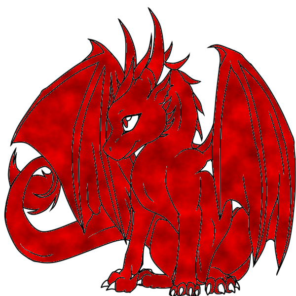 red cloud baby dragon -hatchling- by QueenBrittStalin