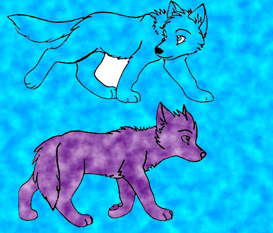 wolf pups by QueenBrittStalin