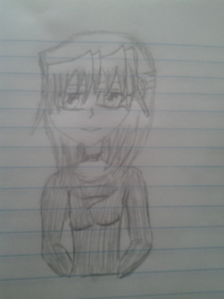 half body sketch by QueenBrittStalin