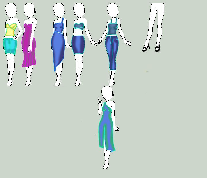 Adoptable Dress Designs by QueenBrittStalin