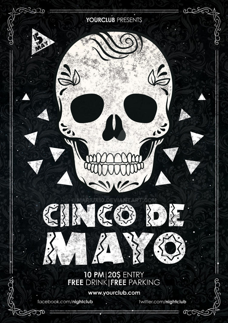 cinco de mayo flyer poster by mariux10 on deviantart