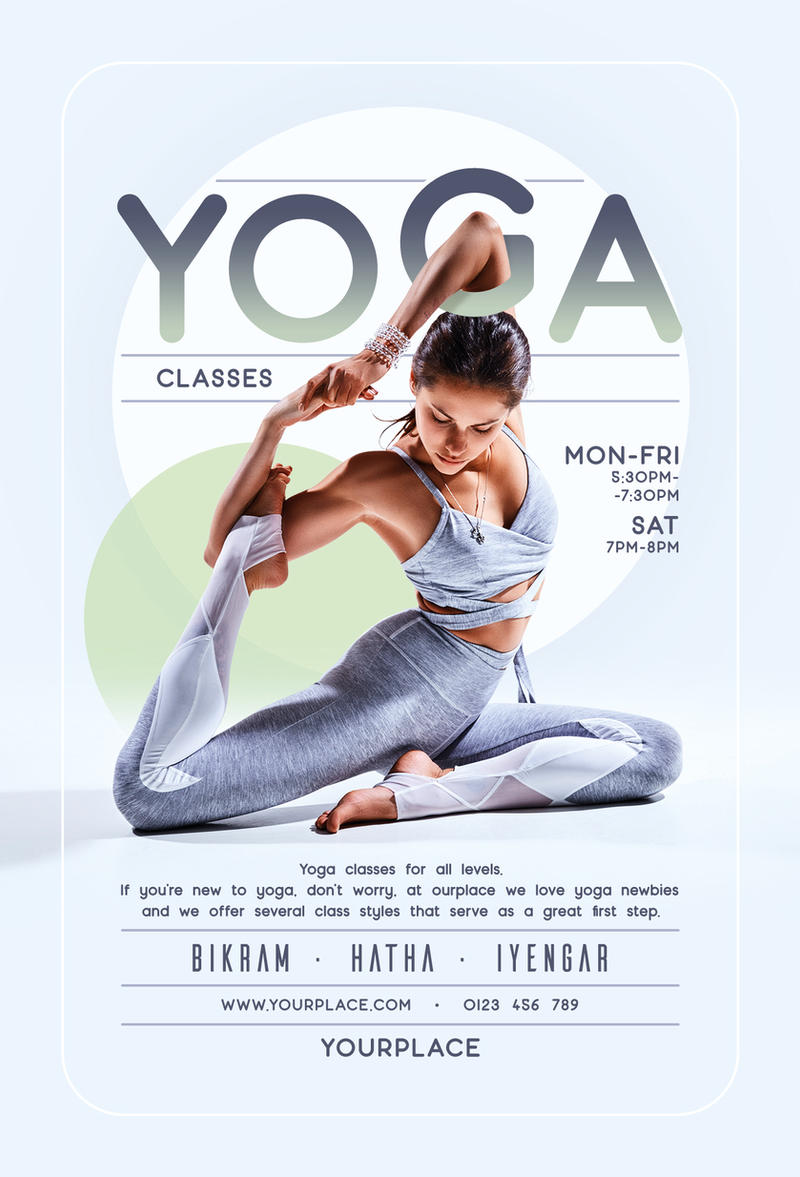 Yoga Flyer And Poster Template By Mariux10 On Deviantart