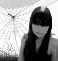 girl portrait with shadows by Laerel