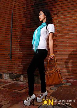 Modeling handbag