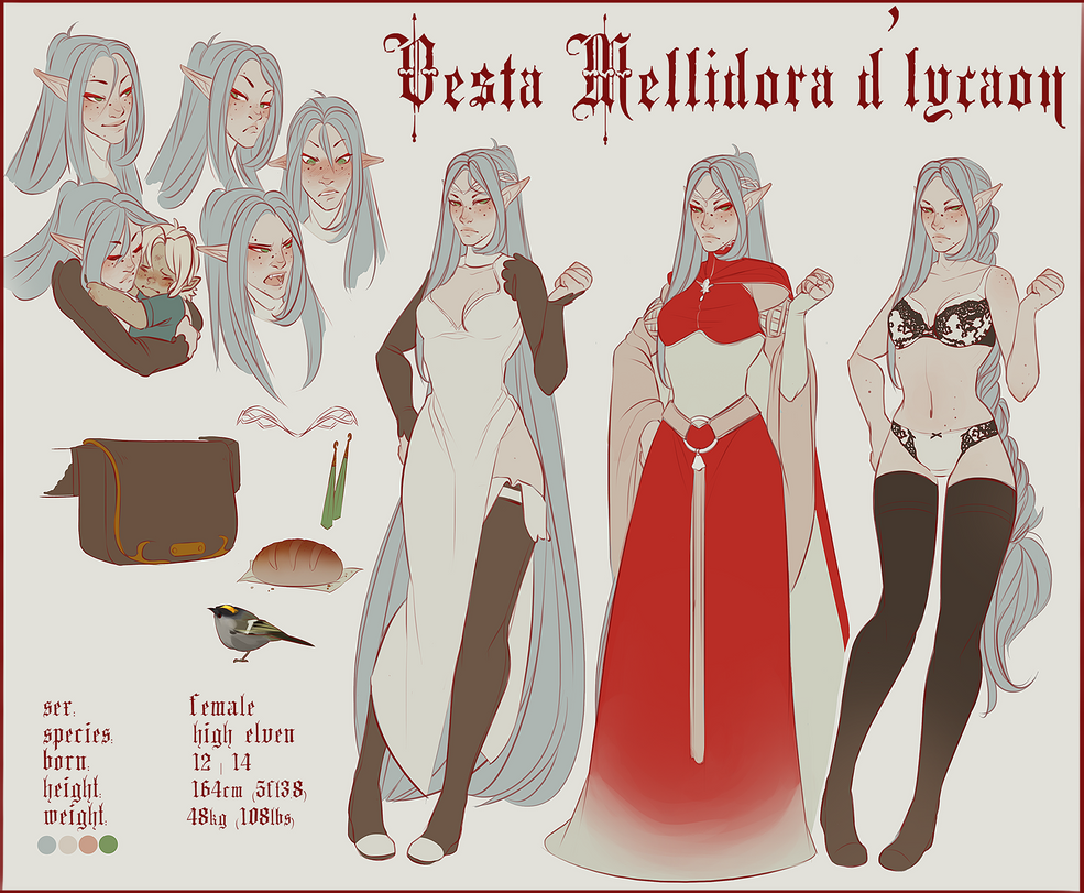 Vesta d'Lycaon Visual Reference by Reimann