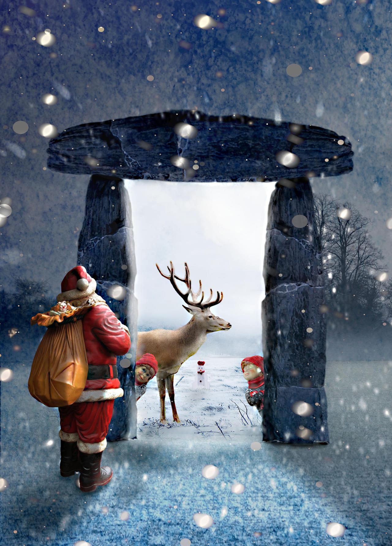 Entrez Dans La Lumière Père Noel by jackodeco