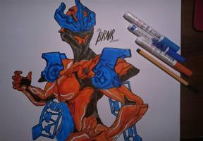 Gara (new brush pens!) by AfterBRNR