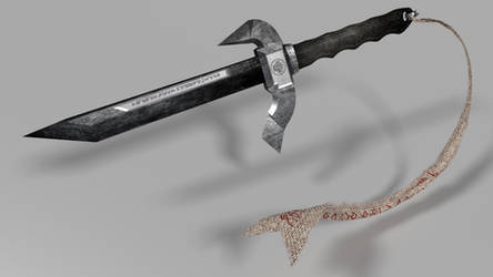 Blender Practice - Long Military Knife by OFP-Rf