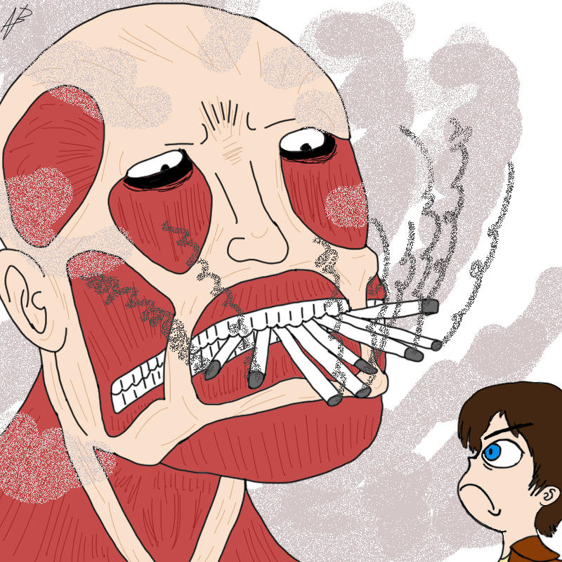 Attack on Smoking by magusVroth