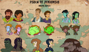 Psalm of Pendansia: Major Races