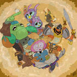 Steamworld Quest Party by magusVroth