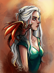 The mother of dragons by Gretlusky