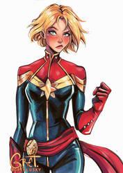 Cap Marvel by Gretlusky