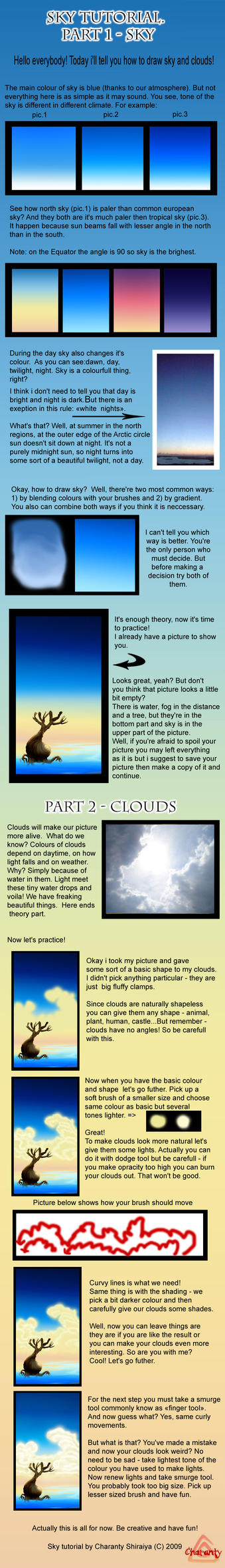 Sky tutorial by Charanty