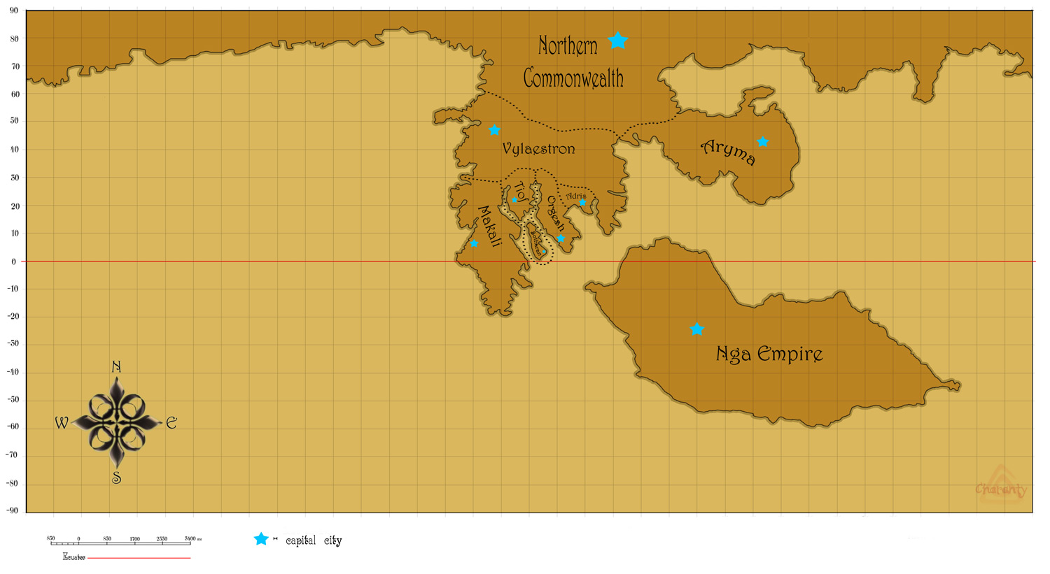 Map of Uryun by Charanty