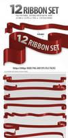12 Piece Ribbon Set by GoldenBugSpread