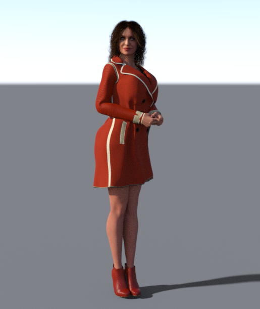a new TC coat from DAZ ! for our new character !