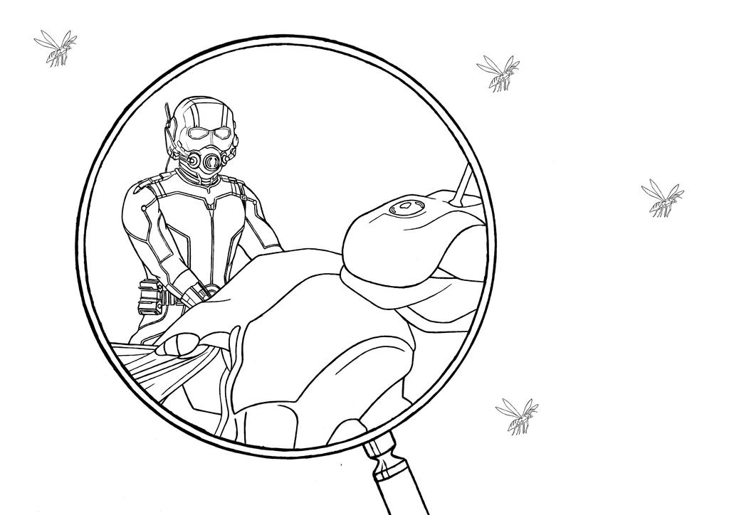 Ant Man Coloring Page By Kaskad93