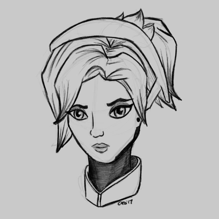 Mercy Sketch by Caskatified