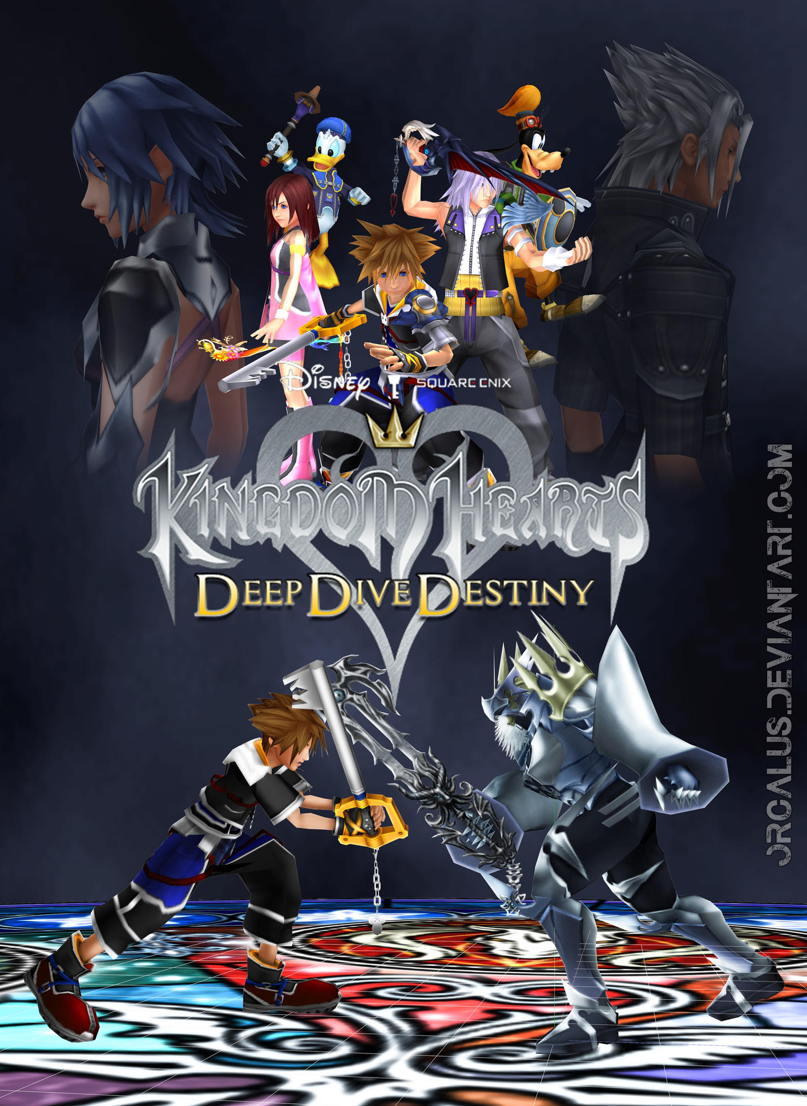 Kingdom hearts deep dive destiny by orcalus on deviantart - Kingdom hearts deep dive ...