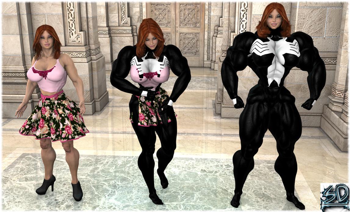 MJ She-Venom transformation by StarkeDamen by ...
