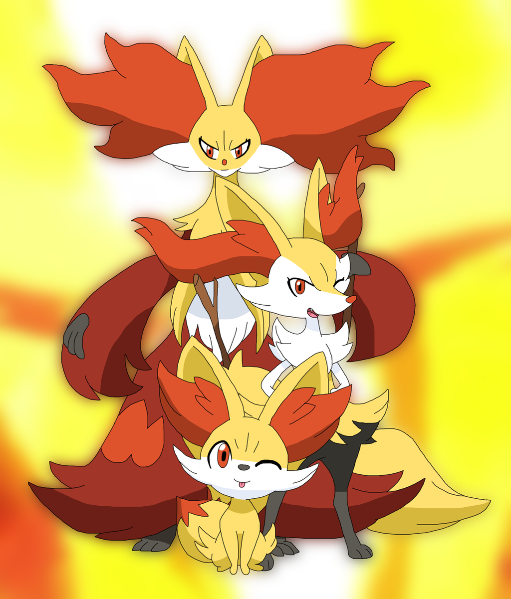 Flaming Foxes by Cansin13Art