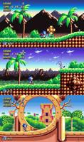 Sonic Mania Sunrise Gate Zone by Alex13Art