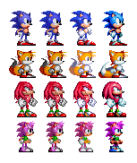 Sonic Sprite Evolution by Alex13Art