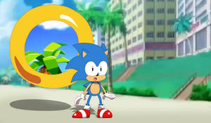 Classic Sonic in by Alex13Art