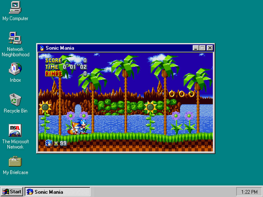 Sonic Mania on Windows 95 by Alex13Art on DeviantArt