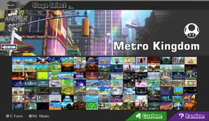 Smash 5 Stage Select (Metro Kingdom) (FANMADE)