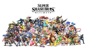 Cast of Super Smash Bros Ultimate by Alex13Art
