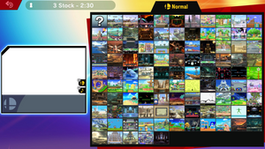 SSBU Entire Stage Selection