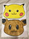 Pikachu  Eevee Faces