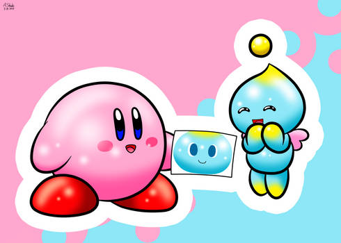 Kirby Made a Gift for a Chao