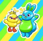 Bouncy Ducky and Bunny!