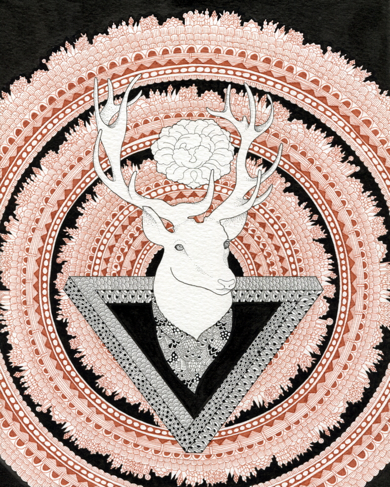 Penrose's deer by IngeVandormael