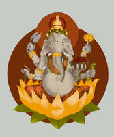 Lord Ganesha v1 by IngeVandormael