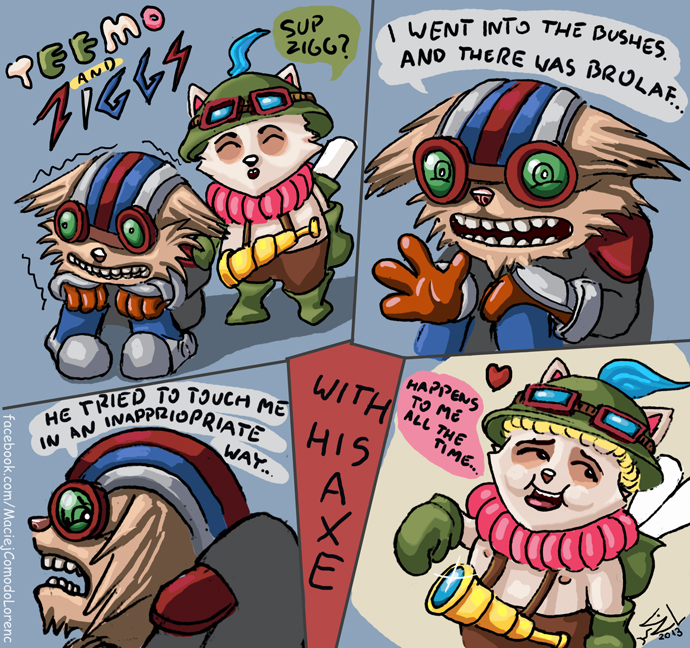 League Of Legends Teemo And Ziggs By Com2odo On Deviantart
