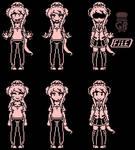 SIX Monika sprites