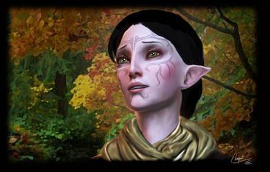 Portrait of Merrill, from DA2 by NatachaChoquet