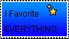 I Favorite Everything - Stamp by TheCheeseProject