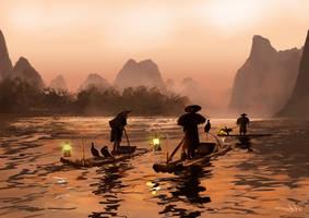 Guangzhou Fishing Fleet by tonyhurst