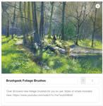 Foliage Brushes - over 30 brand new brushes!!